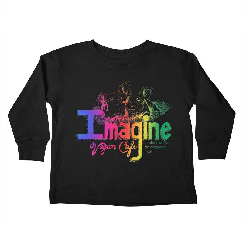 Imagine Rainbow Kids Toddler Longsleeve T-Shirt by Imaginevegancafe's Artist Shop