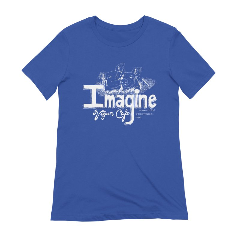 Imagine White Women's Extra Soft T-Shirt by Imaginevegancafe's Artist Shop