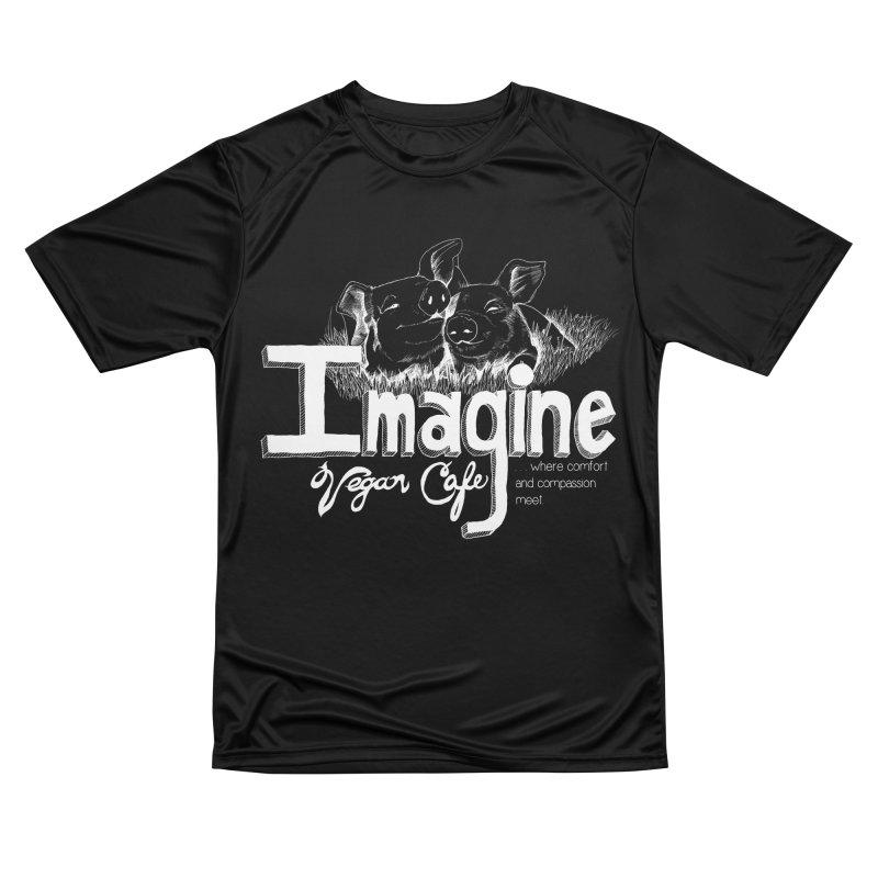 Imagine White Men's T-Shirt by Imaginevegancafe's Artist Shop