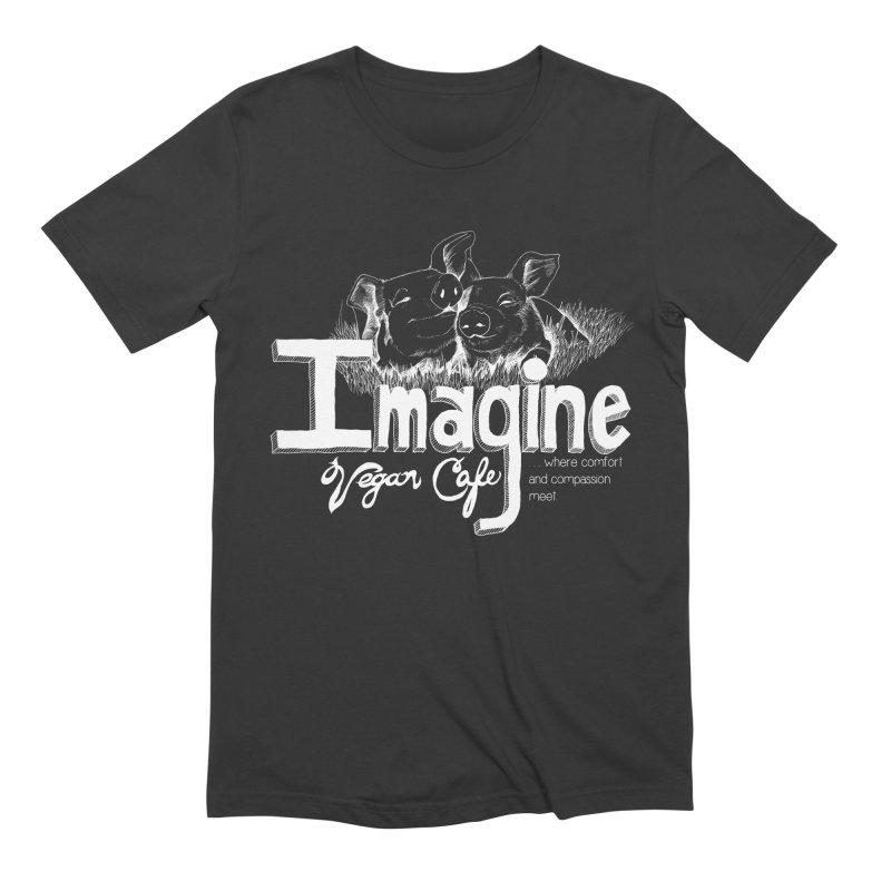 Imagine White Men's Extra Soft T-Shirt by Imaginevegancafe's Artist Shop