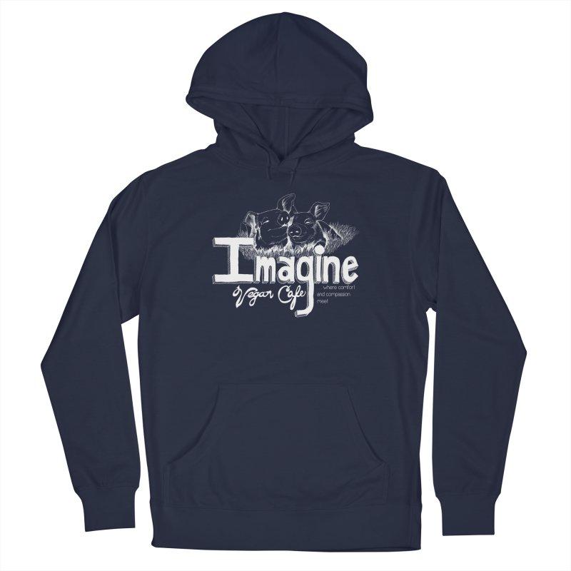 Imagine White Men's Pullover Hoody by Imaginevegancafe's Artist Shop