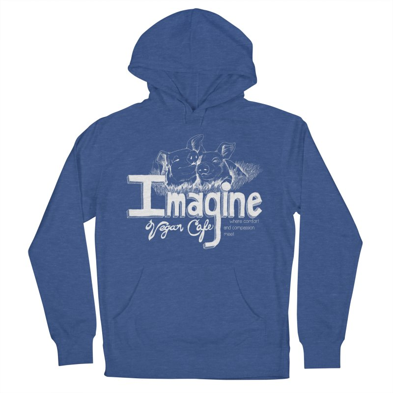 Imagine White Women's French Terry Pullover Hoody by Imaginevegancafe's Artist Shop