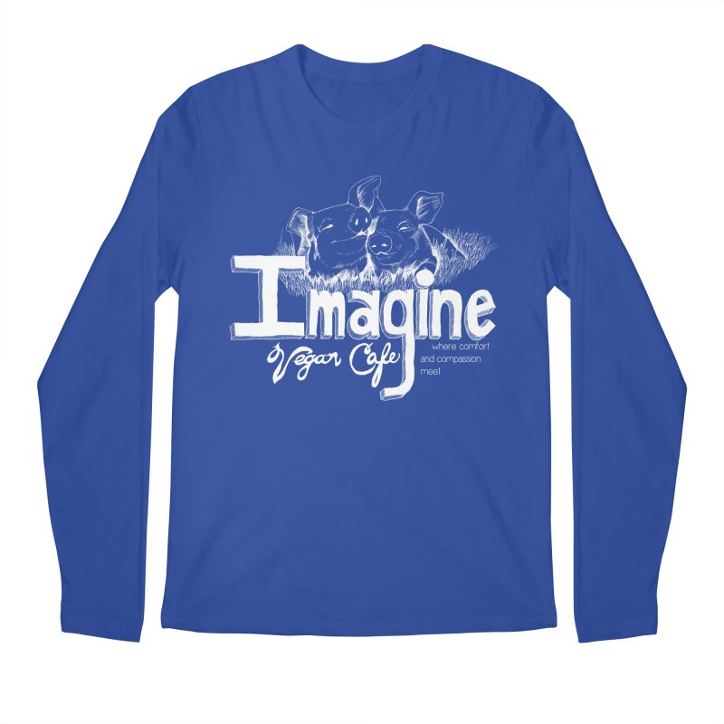 Imagine White Men's Regular Longsleeve T-Shirt by Imaginevegancafe's Artist Shop