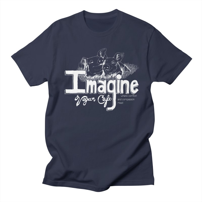 Imagine White Men's Regular T-Shirt by Imaginevegancafe's Artist Shop
