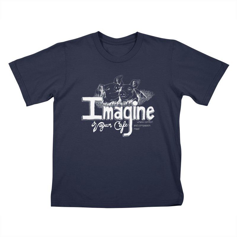 Imagine White Kids T-Shirt by Imaginevegancafe's Artist Shop