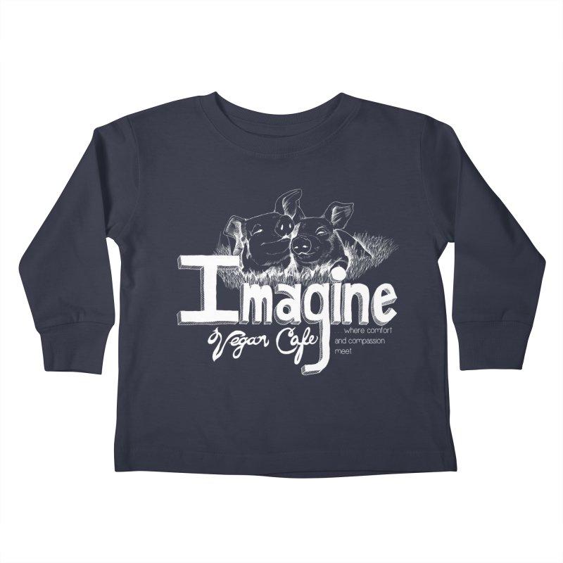 Imagine White Kids Toddler Longsleeve T-Shirt by Imaginevegancafe's Artist Shop