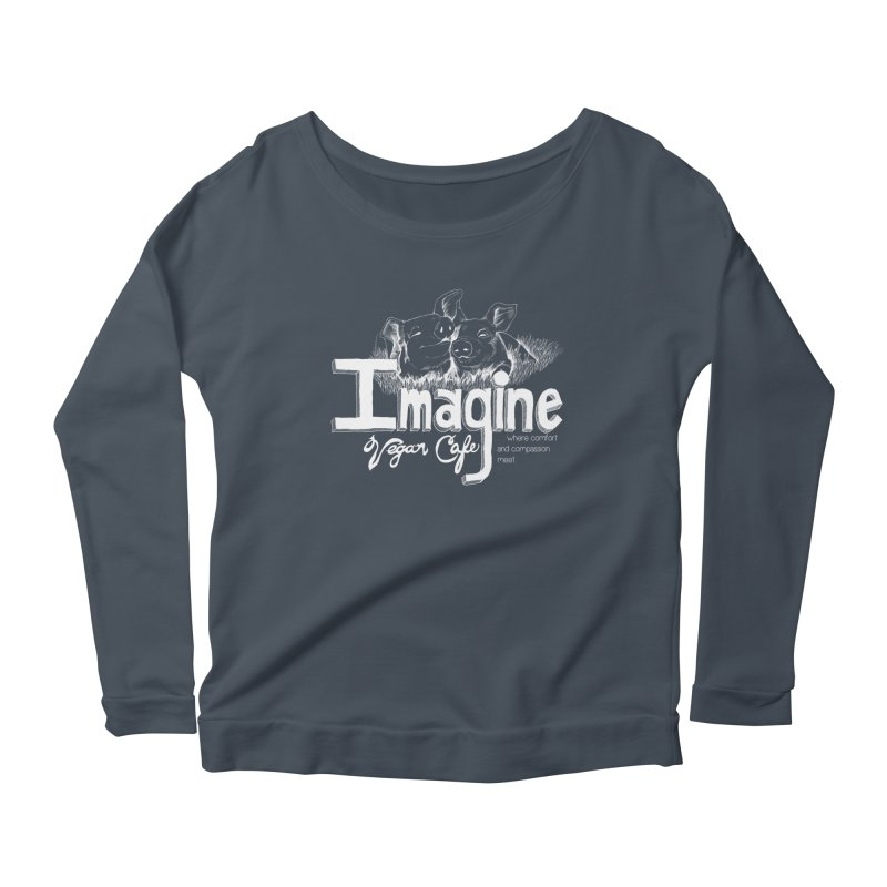 Imagine White Women's Longsleeve T-Shirt by Imaginevegancafe's Artist Shop