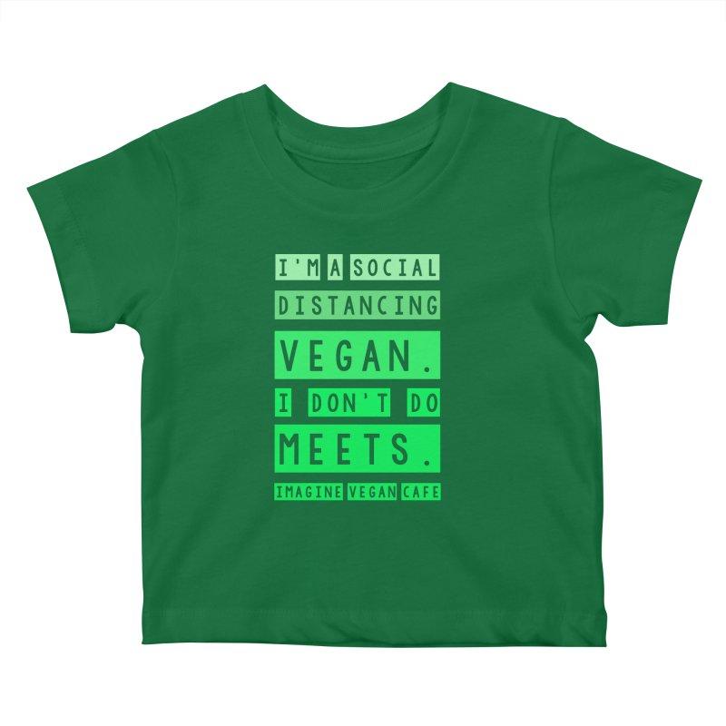 Social Distance Vegan Kids Baby T-Shirt by Imaginevegancafe's Artist Shop