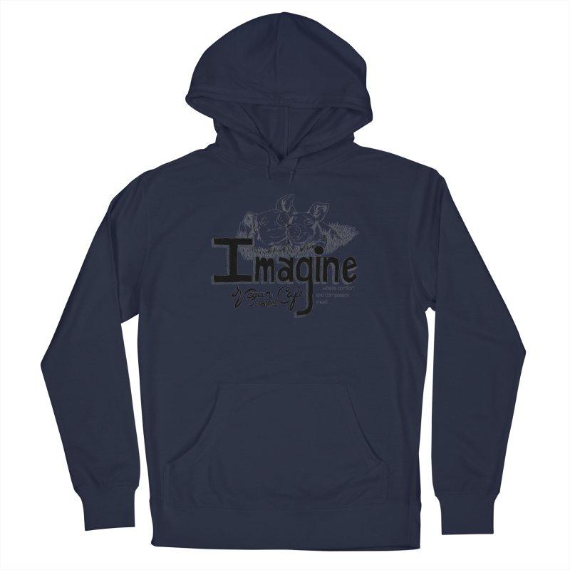 Imagine Logo in Black Men's Pullover Hoody by Imaginevegancafe's Artist Shop