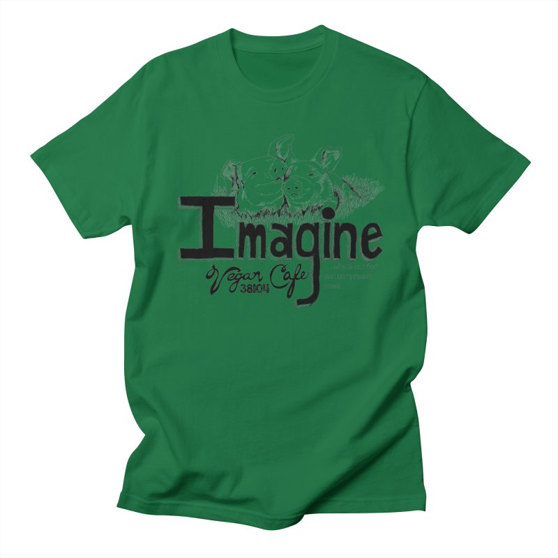 Imagine Logo in Black Men's T-Shirt by Imaginevegancafe's Artist Shop