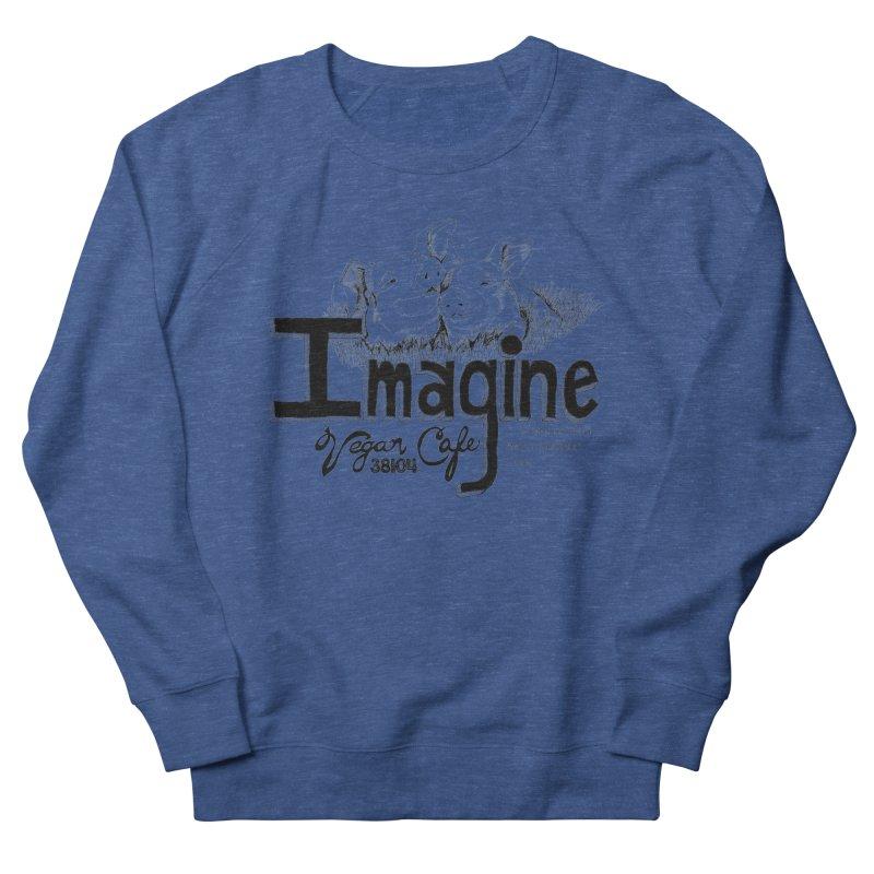 Imagine Logo in Black Men's Sweatshirt by Imaginevegancafe's Artist Shop