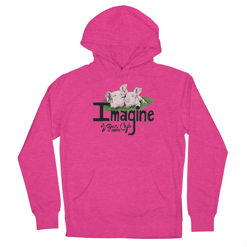 Imagine Piggy Shirt Men's French Terry Pullover Hoody by Imaginevegancafe's Artist Shop