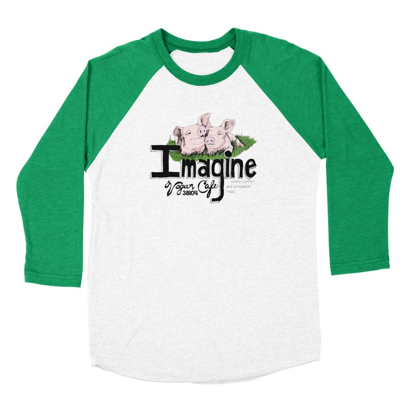 Imagine Piggy Shirt Women's Baseball Triblend Longsleeve T-Shirt by Imaginevegancafe's Artist Shop