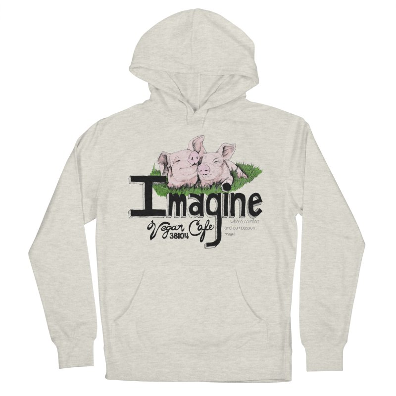 Imagine Piggy Shirt Women's French Terry Pullover Hoody by Imaginevegancafe's Artist Shop
