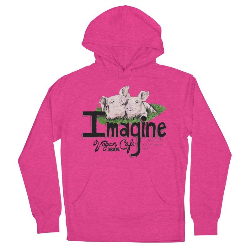 Imagine Piggy Shirt Women's Pullover Hoody by Imaginevegancafe's Artist Shop