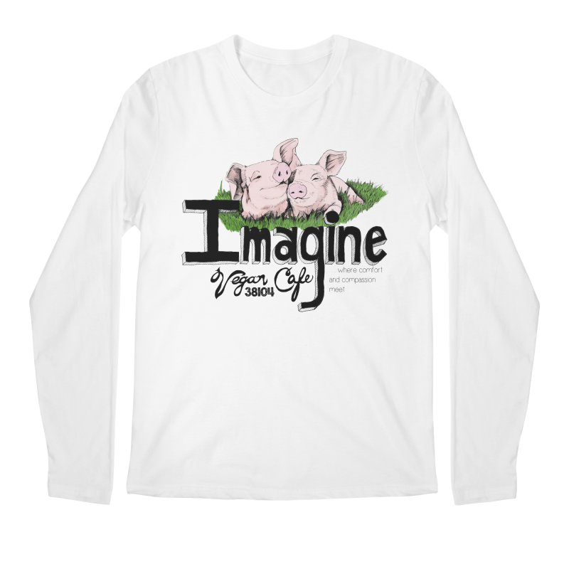 Imagine Piggy Shirt Men's Regular Longsleeve T-Shirt by Imaginevegancafe's Artist Shop