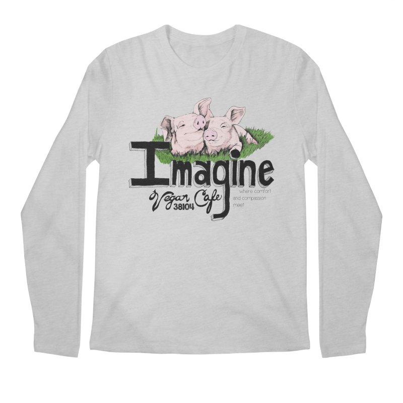Imagine Piggy Shirt Men's Regular Longsleeve T-Shirt by Imaginevegancafe's Artist Shop