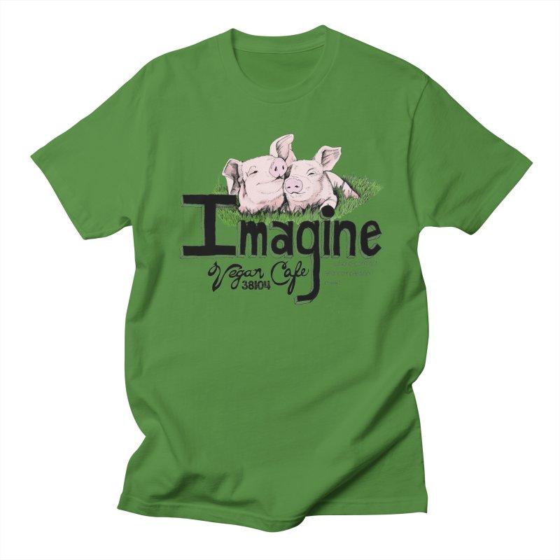 Imagine Piggy Shirt Men's Regular T-Shirt by Imaginevegancafe's Artist Shop