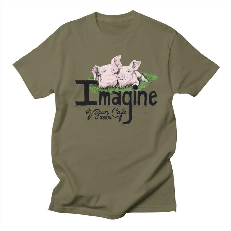 Imagine Piggy Shirt Women's Regular Unisex T-Shirt by Imaginevegancafe's Artist Shop
