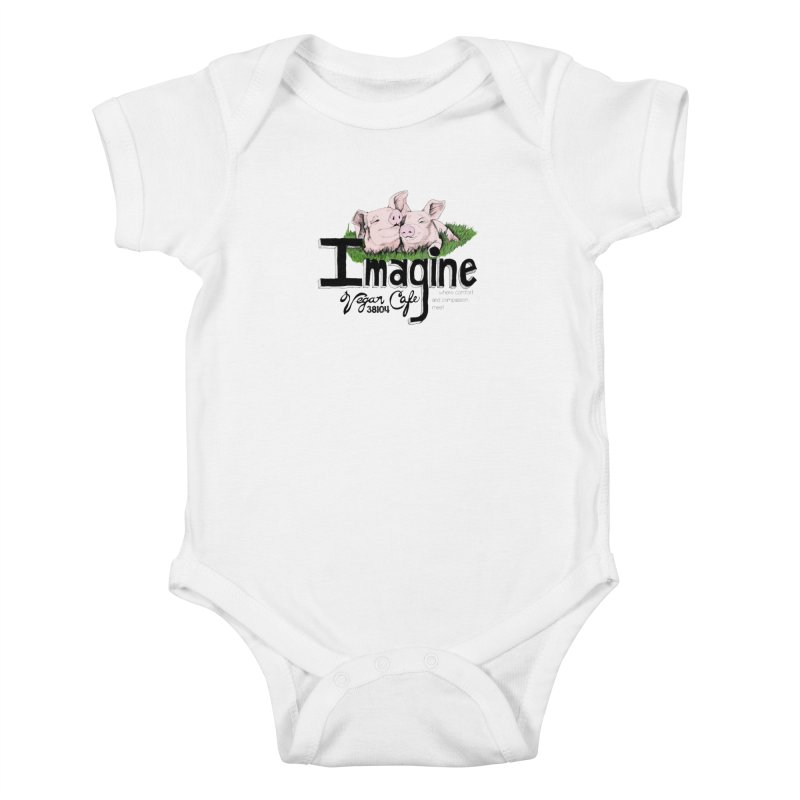 Imagine Piggy Shirt Kids Baby Bodysuit by Imaginevegancafe's Artist Shop