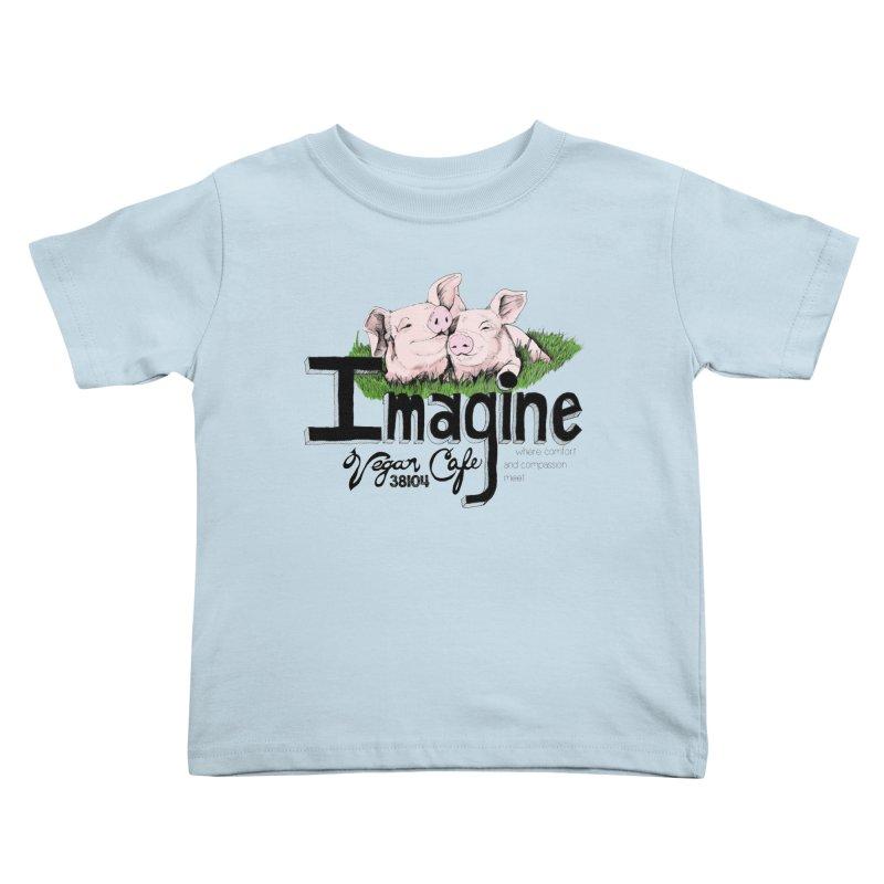 Imagine Piggy Shirt Kids Toddler T-Shirt by Imaginevegancafe's Artist Shop