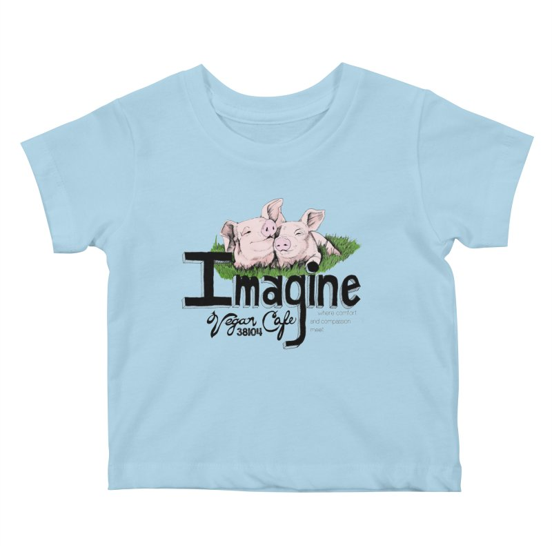 Imagine Piggy Shirt Kids Baby T-Shirt by Imaginevegancafe's Artist Shop