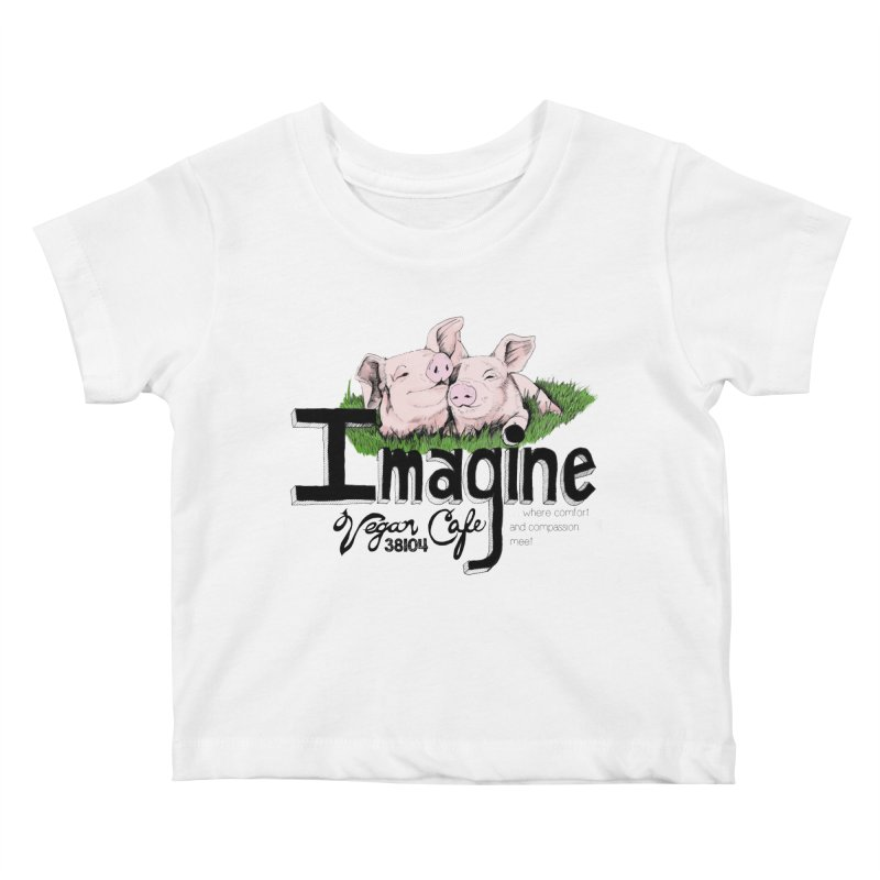 Imagine Piggy Shirt Kids Baby T-Shirt by Imaginevegancafe's Artist Shop