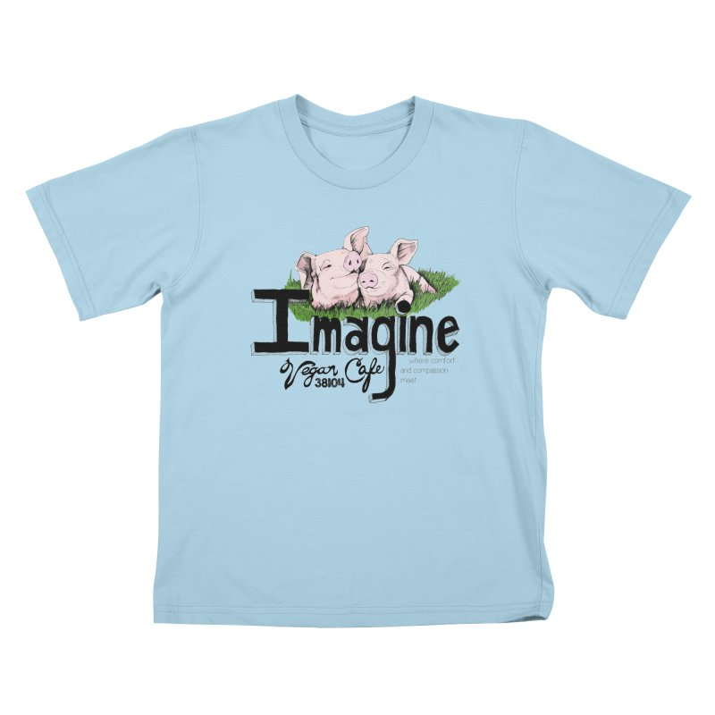 Imagine Piggy Shirt Kids T-Shirt by Imaginevegancafe's Artist Shop
