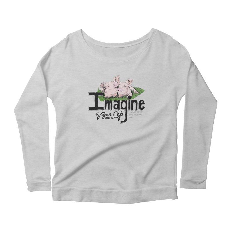 Imagine Piggy Shirt Women's Scoop Neck Longsleeve T-Shirt by Imaginevegancafe's Artist Shop
