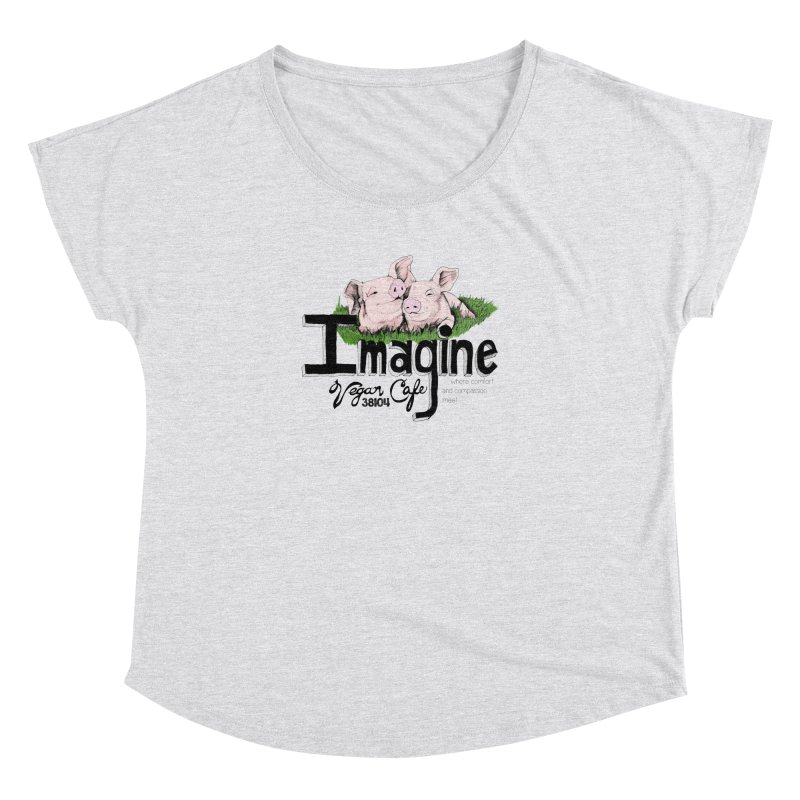 Imagine Piggy Shirt Women's Dolman Scoop Neck by Imaginevegancafe's Artist Shop