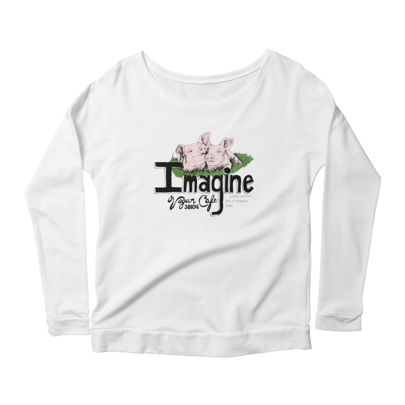 Imagine Piggy Shirt Women's Scoop Neck Longsleeve T-Shirt by Imaginevegancafe's Artist Shop