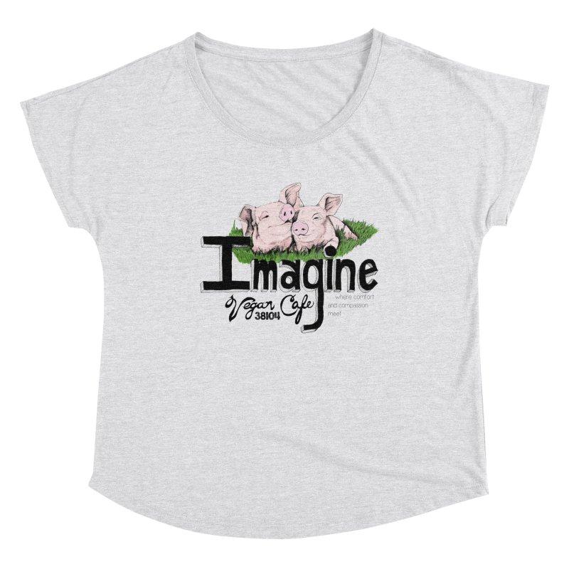 Imagine Piggy Shirt Women's Dolman Scoop Neck by Imaginevegancafe's Artist Shop
