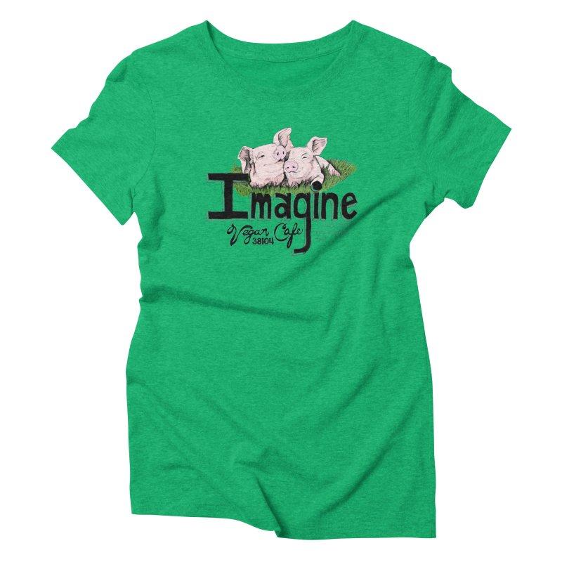 Imagine Piggy Shirt Women's Triblend T-Shirt by Imaginevegancafe's Artist Shop
