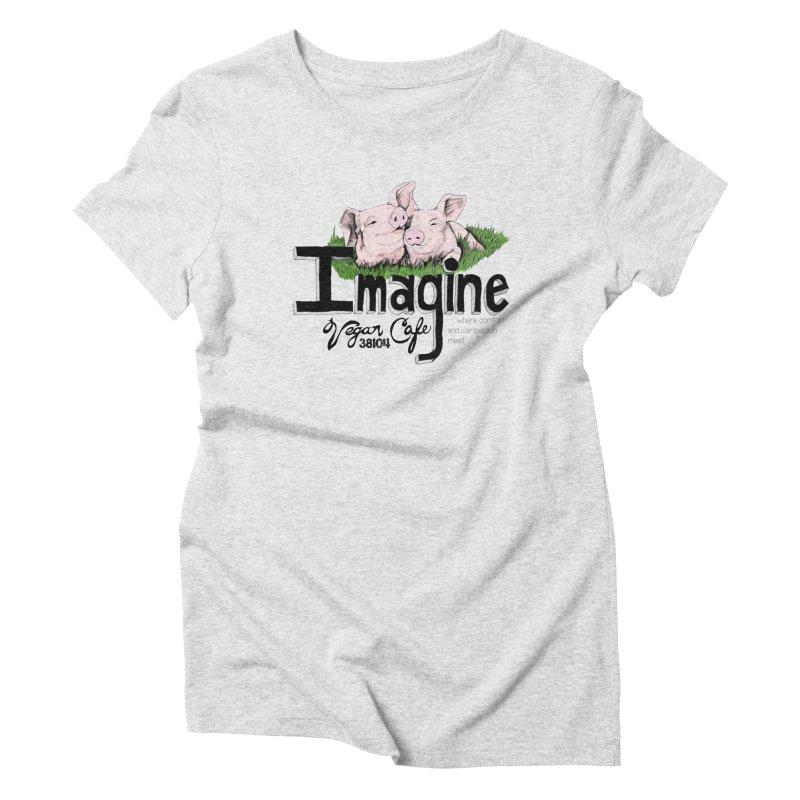 Imagine Piggy Shirt Women's T-Shirt by Imaginevegancafe's Artist Shop