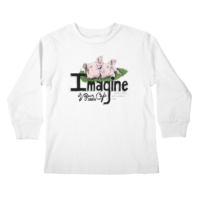 Imagine Piggy Shirt Kids Longsleeve T-Shirt by Imaginevegancafe's Artist Shop