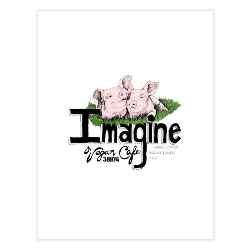 Imagine Piggy Shirt Home Fine Art Print by Imaginevegancafe's Artist Shop