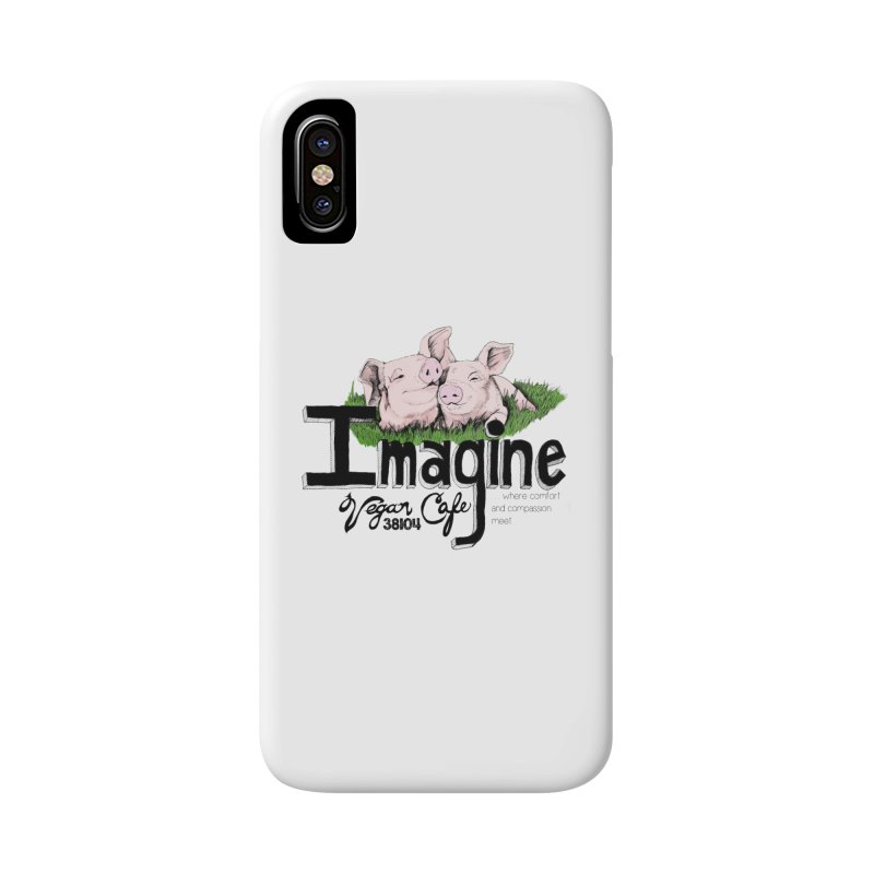 Imagine Piggy Shirt Accessories Phone Case by Imaginevegancafe's Artist Shop