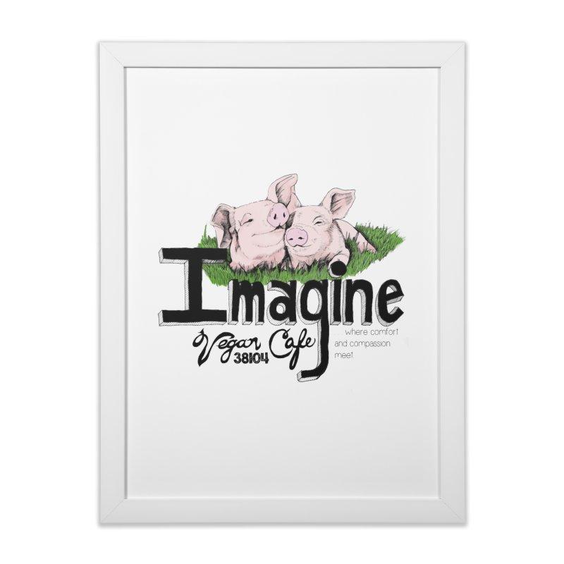Imagine Piggy Shirt Home Framed Fine Art Print by Imaginevegancafe's Artist Shop