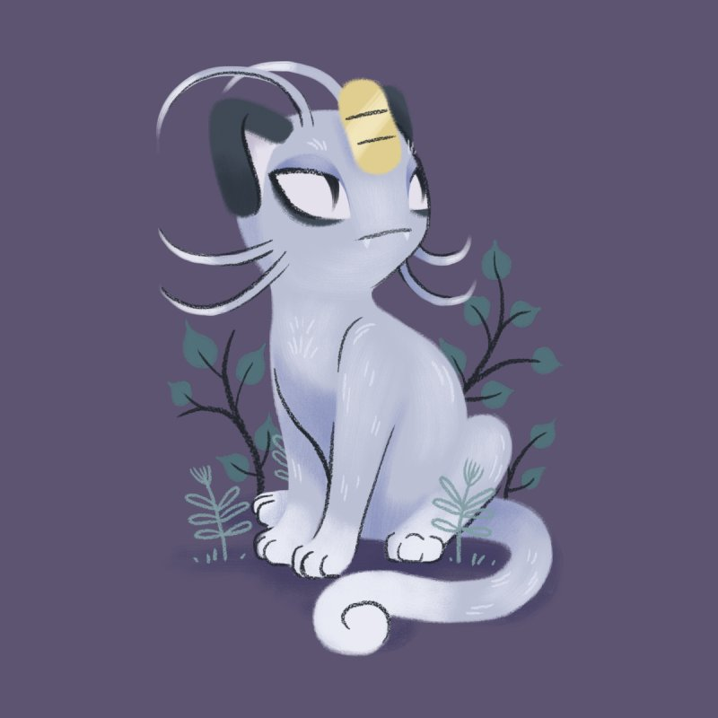 Alolan Meowth None  by ImogenSartain's Artist Shop