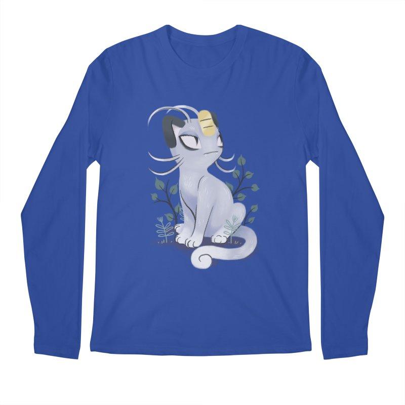Alolan Meowth Men's Longsleeve T-Shirt by ImogenSartain's Artist Shop