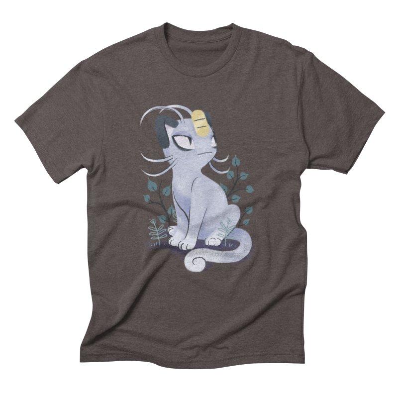 Alolan Meowth Men's Triblend T-Shirt by ImogenSartain's Artist Shop