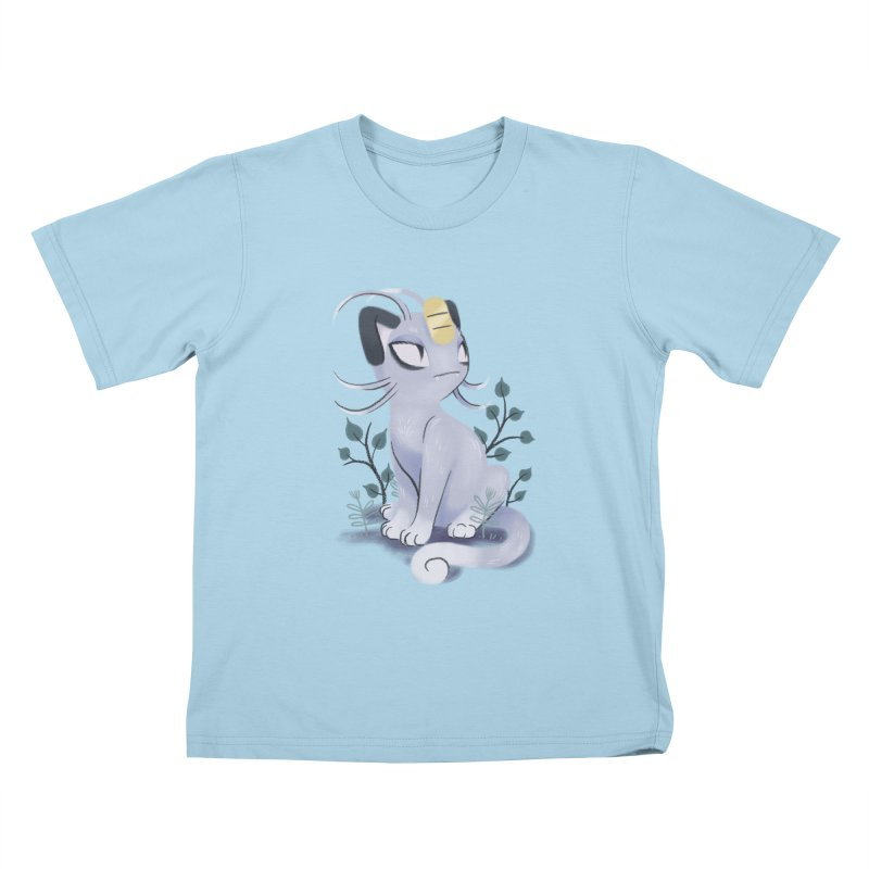 Alolan Meowth Kids T-Shirt by ImogenSartain's Artist Shop