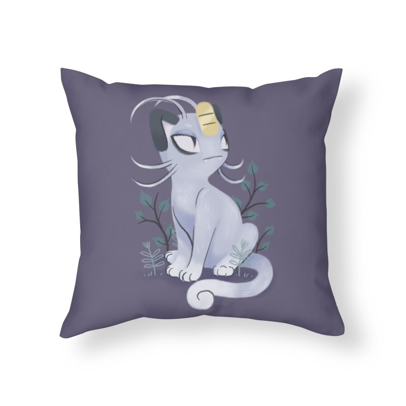Alolan Meowth Home Throw Pillow by ImogenSartain's Artist Shop