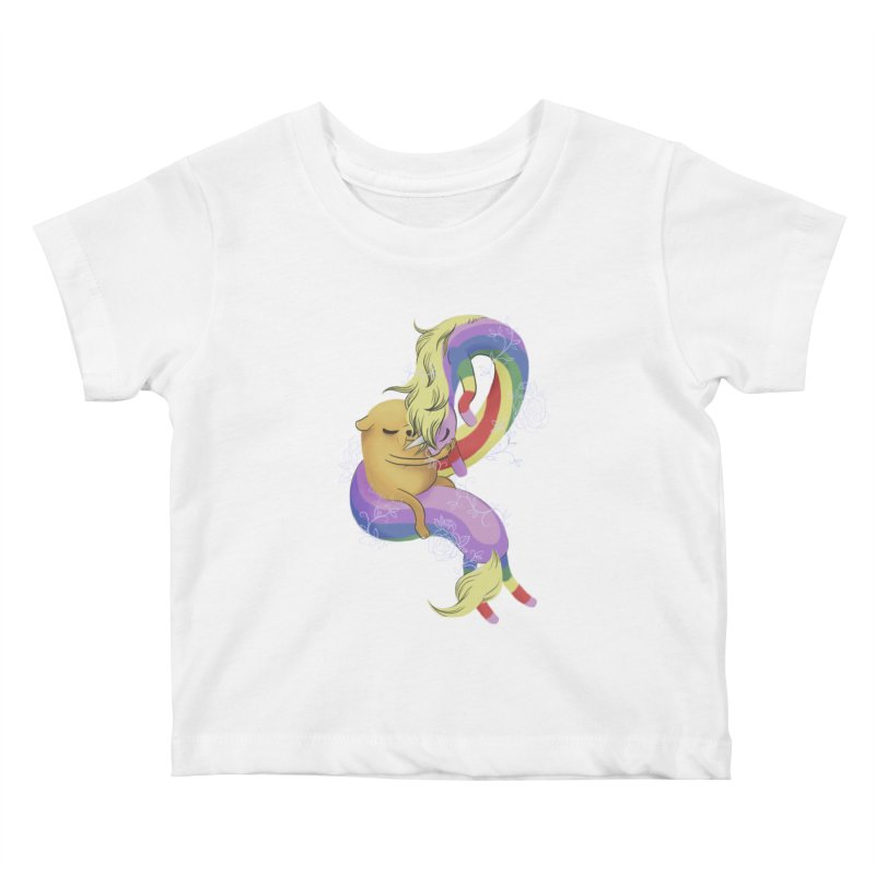 Jake and Lady Rainicorn Kids Baby T-Shirt by ImogenSartain's Artist Shop