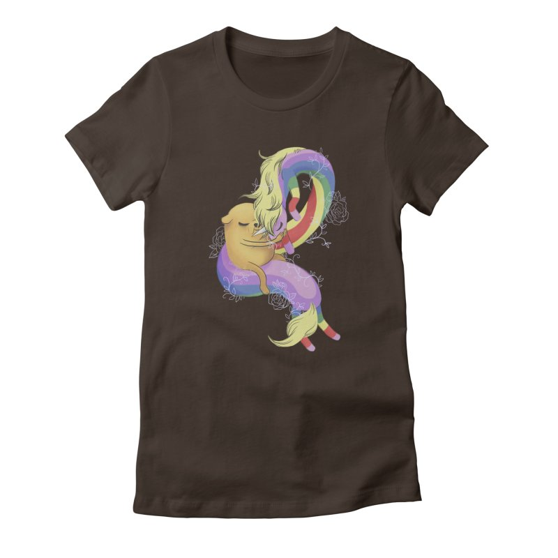 Jake and Lady Rainicorn Women's Fitted T-Shirt by ImogenSartain's Artist Shop