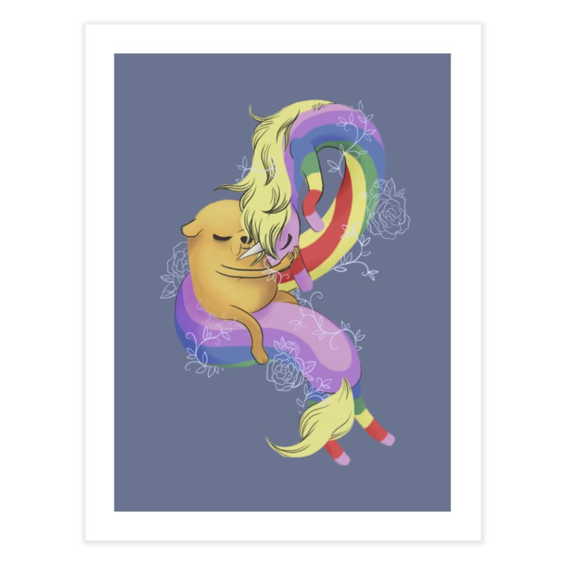 Jake and Lady Rainicorn Home Fine Art Print by ImogenSartain's Artist Shop