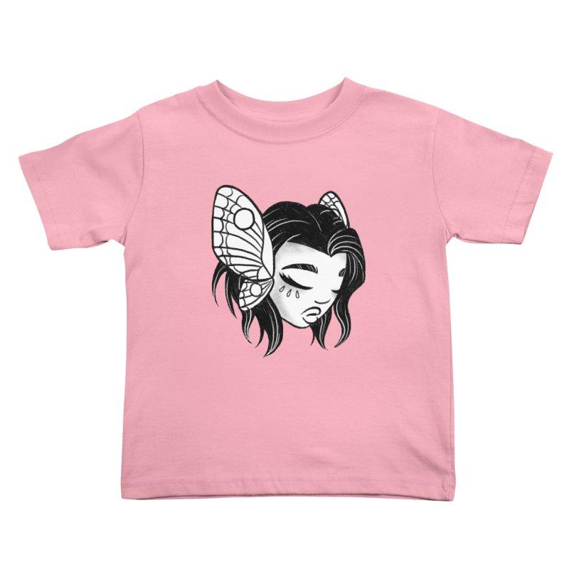 Mothgirl Kids Toddler T-Shirt by ImogenSartain's Artist Shop