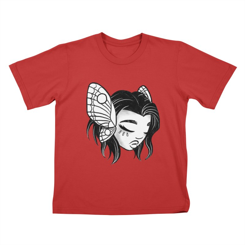Mothgirl Kids T-Shirt by ImogenSartain's Artist Shop
