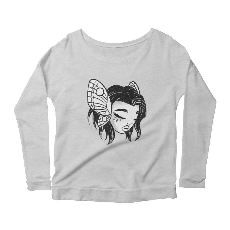 Mothgirl Women's Longsleeve Scoopneck  by ImogenSartain's Artist Shop