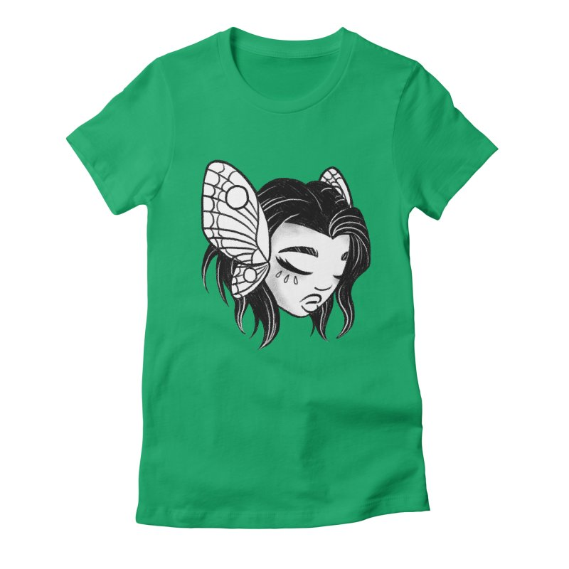 Mothgirl Women's Fitted T-Shirt by ImogenSartain's Artist Shop